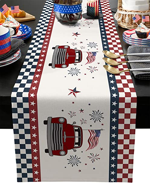 Red Truck Christmas Decorations Little Red Truck Red Truck Decor Holiday Table Runner Holiday Table Decor Holiday Table Runner