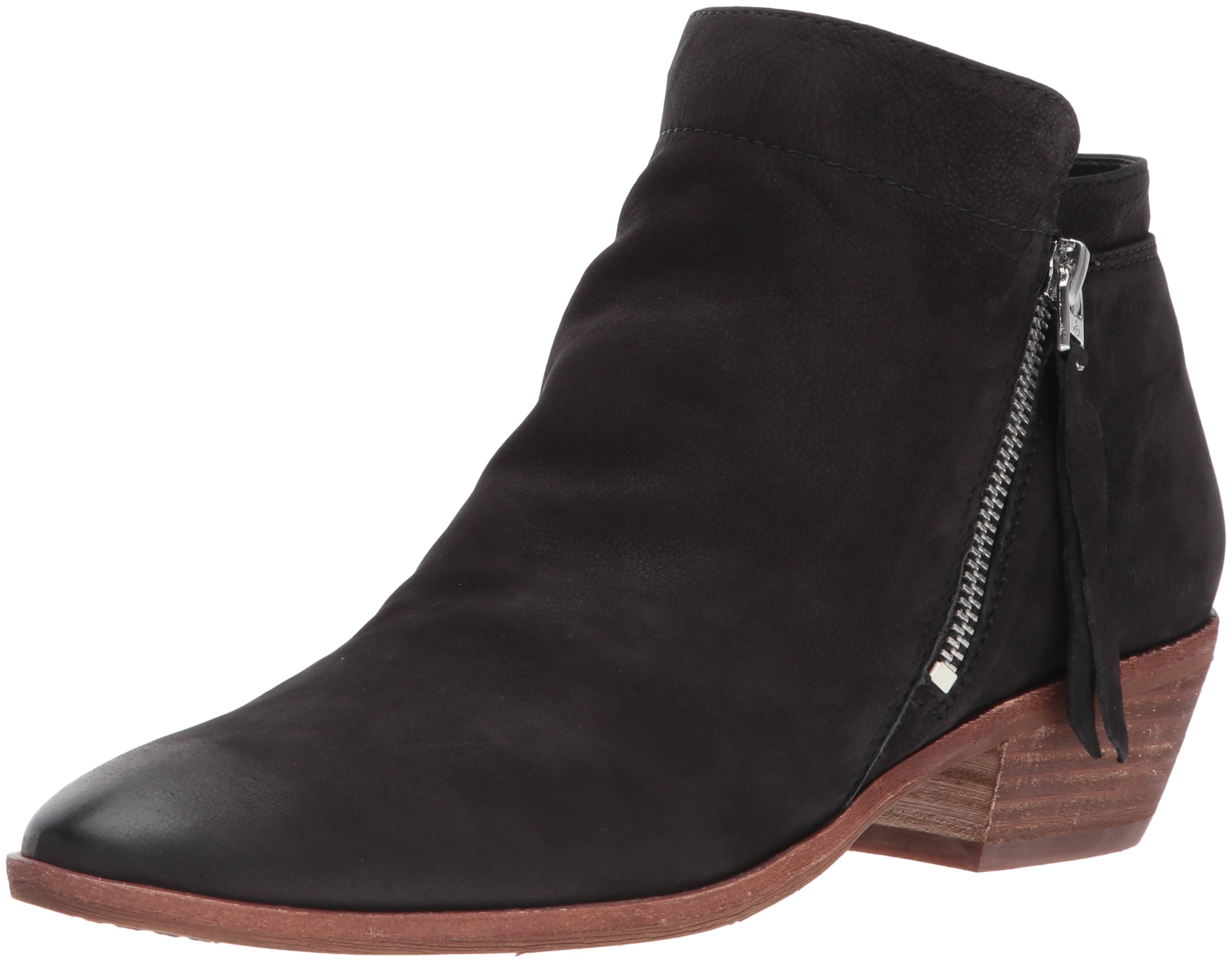 Sam Edelman Women's Packer Ankle Boot, Black Leather, 8.5 Medium US