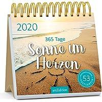 Postkartenkalender 365 Tage Sonne im Herzen 2020 - Wochenkalender mit abtrennbaren Postkarten: Gute-Laune-Kalender für mehr Lebensfreude, Glück und Inspiration