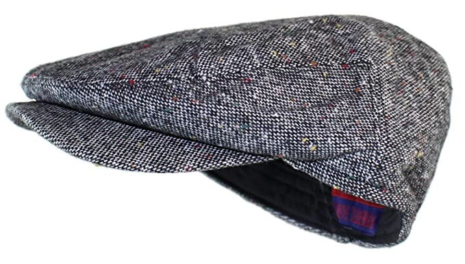 e0e6c7ad07b Ted and Jack - Irish Donegal Tweed Newsboy Driving Cap with Quilted Lining  (Small