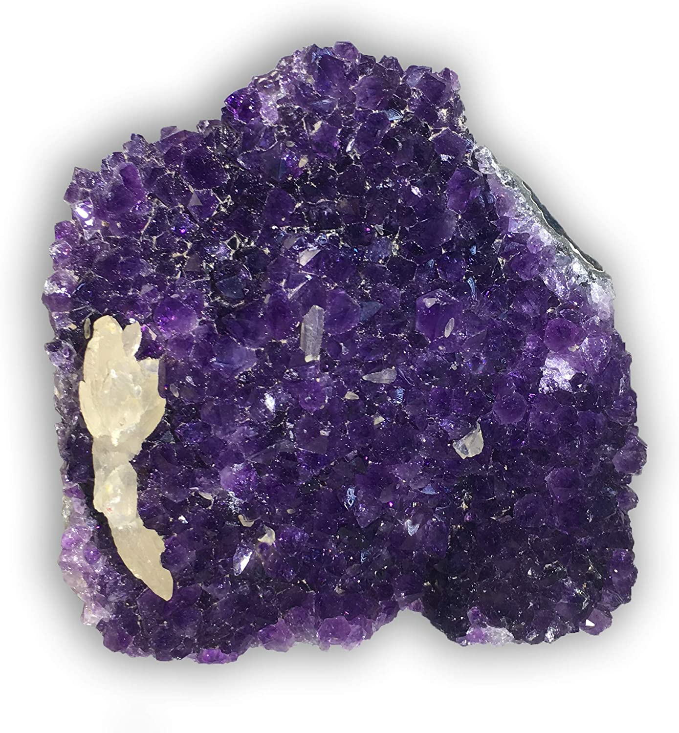 Geologists /& Amethyst Collectors. Highly Collectible for Rock Hounds up to 1 lb Amazing Amethyst Cluster deep Purple Clusters with INCLUSIONS of Quartz or Calcite