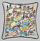 Catstudio Hand-Embroidered Pillow - Texas