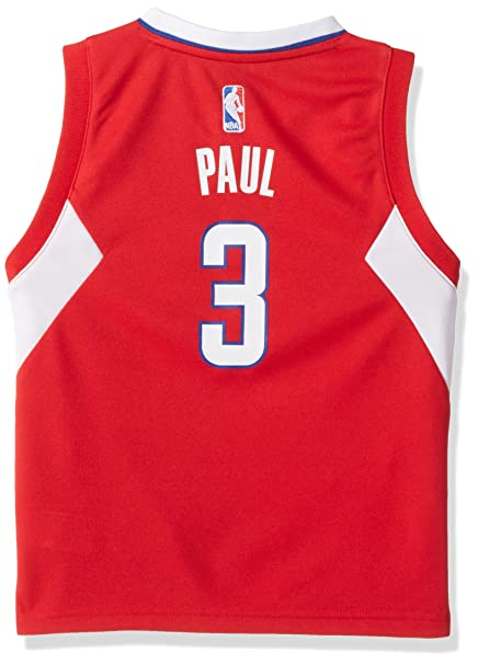 041ad615ffd adidas NBA Little Kid's Los Angeles Clippers Chris Paul Away Replica  Jersey, Red Small(