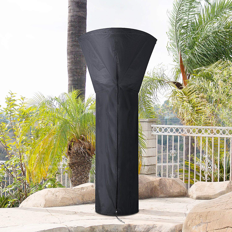 Poliestere Impermeabile Resistente ai Raggi UV Copertura per Mobili da Giardino Terrazza 226 48 cm Vordas Patio Heater Cover 85