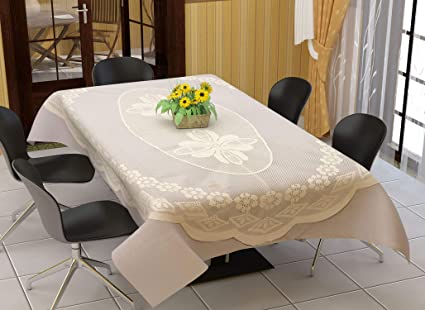 Buy Styleyourhome Polyester Blend Oval Shape Dining Table Cover With