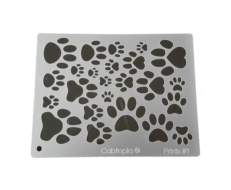 Cabtopia -- Lapidary Jewelry Design Template Stencil 'Prints #1' Cabtopia -- Lapidary Jewelry Design Template Stencil Prints #1