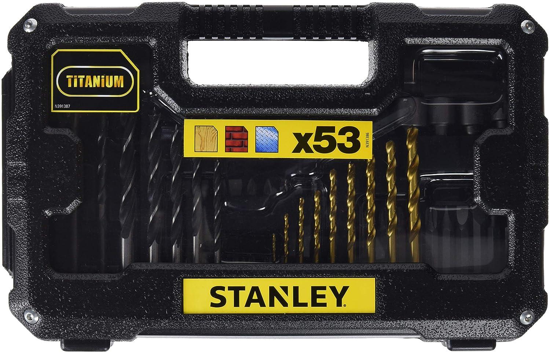 Stanley STA7223-XJ Foret de Perç age et Accessoires de Vissage, Noir, Set de 53 Piè ces Set de 53 Pièces