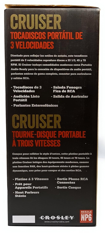 Amazon.com: Crosley Cruiser CR8005A-CC 3-Speed Portable ...