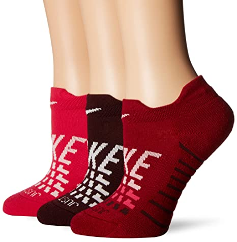 Nike Everyday MAX Cush Low 3PR-GFX - Calcetines, Mujer