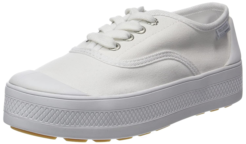 Palladium Sub Low Canvas, Zapatillas para Mujer 38 EU|Blanco (White 420)