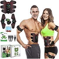GreenMoon Elektrostimulator voor spieren, massagegordel, stimulator voor buikspieren, EMS, stimulatieapparaat voor…