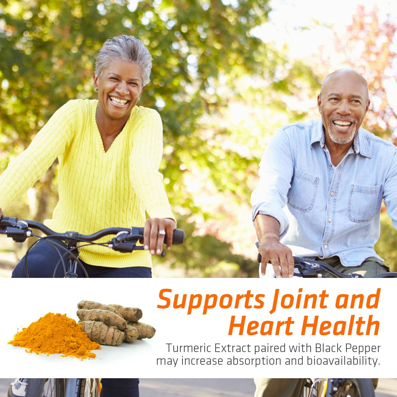 Turmeric Curcumin Max Potency 95% Curcuminoids 1950mg with Bioperine Black Pepper for Best Absorption, Anti-Inflammatory Joint Relief, Turmeric Supplement Pills by Natures Nutrition - 180 Capsules by Nature's Nutrition (Image #3)