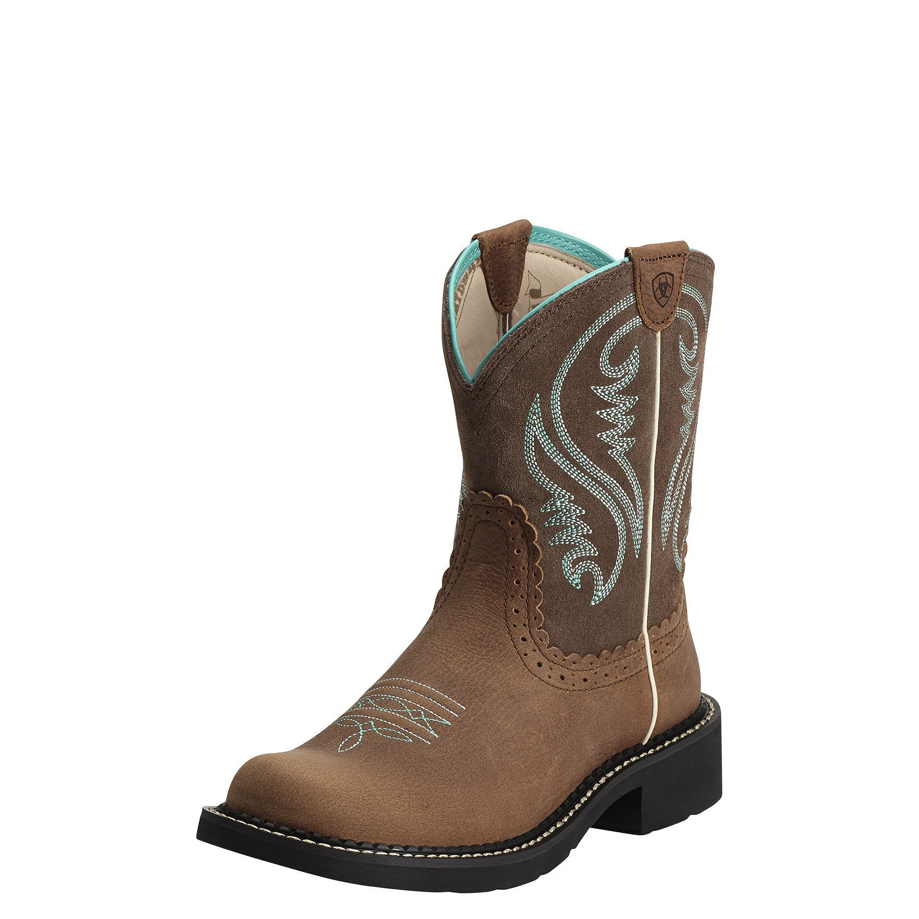 Ariat Women's Fatbaby Heritage Western Cowboy Boot, Tan Rowdy/Tan, 6.5 M US