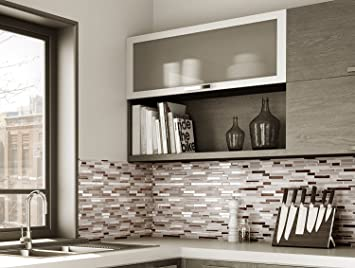 Wellin adesivi da parete in vinile a forma di mosaico motivo