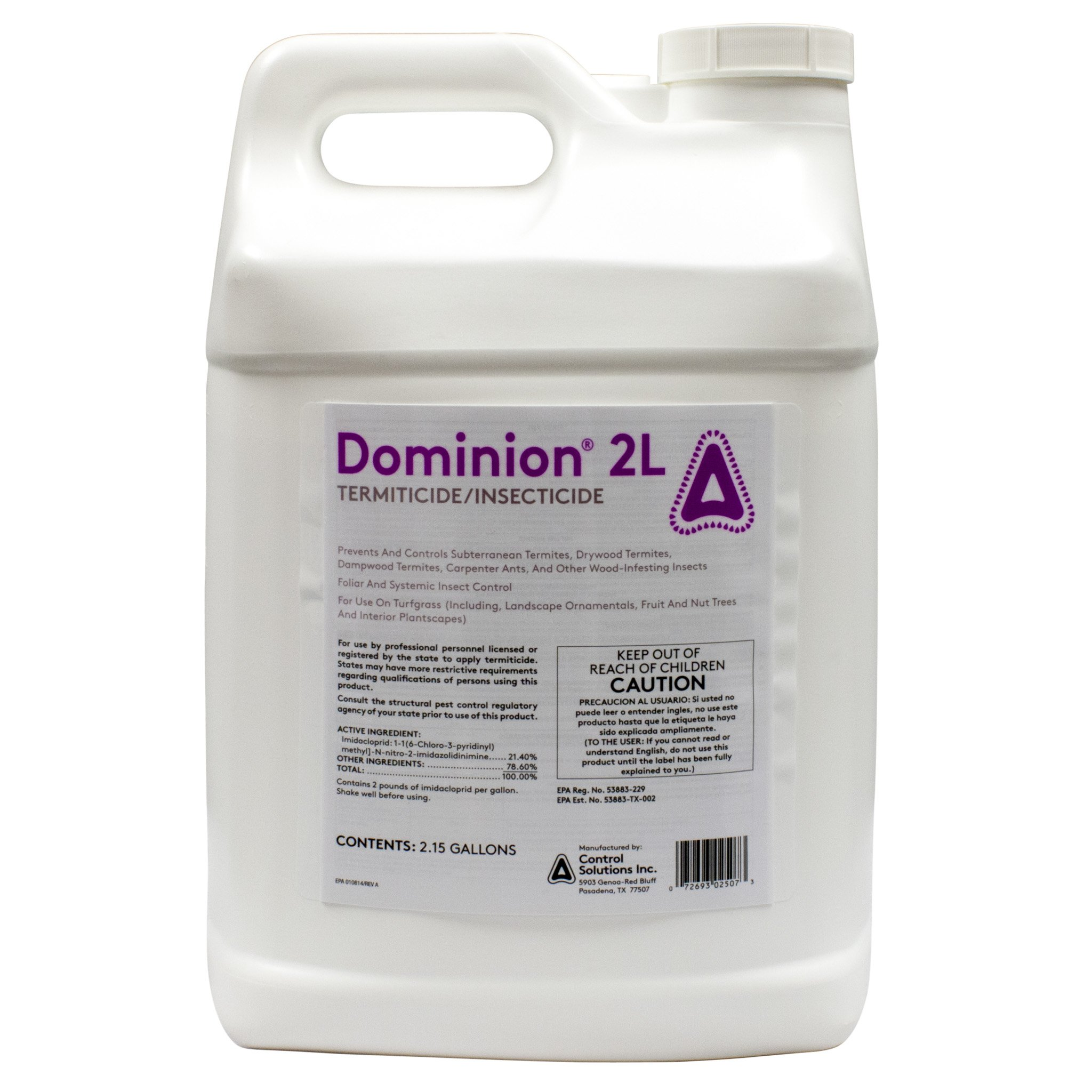 Dominion 2L 21.4% Imidacloprid 2.15 Gallon by Control Solutions