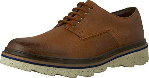 Men/'s Clarks FRELAN LACE Black Leather Lace-Up Casual Shoes Extralight Oxfords