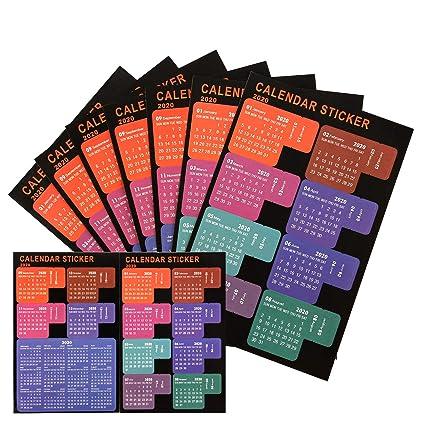 Calendrier Bullet Journal 2020.Luter 2020 Calendrier Onglets Stickers Planificateur Mensuel Adhesif Diviseur Onglet Index Autocollants Pour Bullet Journal Ordinateur Portable
