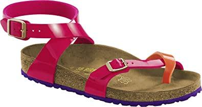 Birkenstock Yara Birko-flor, tongs femme - rose - Tropical Orange Pink,