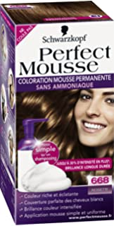 schwarzkopf perfect mousse coloration permanente noisette 668 - Mousse Colorante Schwarzkopf