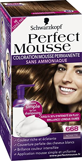schwarzkopf perfect mousse coloration permanente noisette 668 - Prix Coloration Schwarzkopf