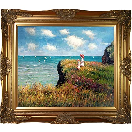 Amazon.com: overstockArt Cliff Walk at Pourville Painting with ...