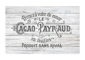 Cacao Payraud Meubles Mur Sol Pochoir Pour Peinture Petit Amazon
