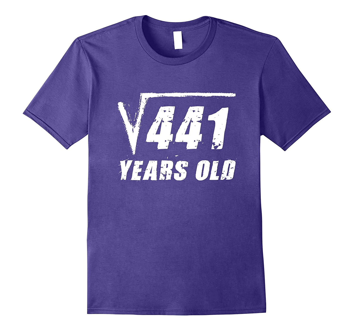 21 Year Old Square Root T-Shirt Funny Birthday Gift Boy Girl-FL