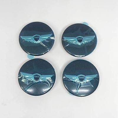 "2009 - 2015 Hyundai Genesis Sedan 17"" 19"" 4door OEM Rims R-spec ""Wing"" Wheel Center Caps Covers Emblem: Automotive"