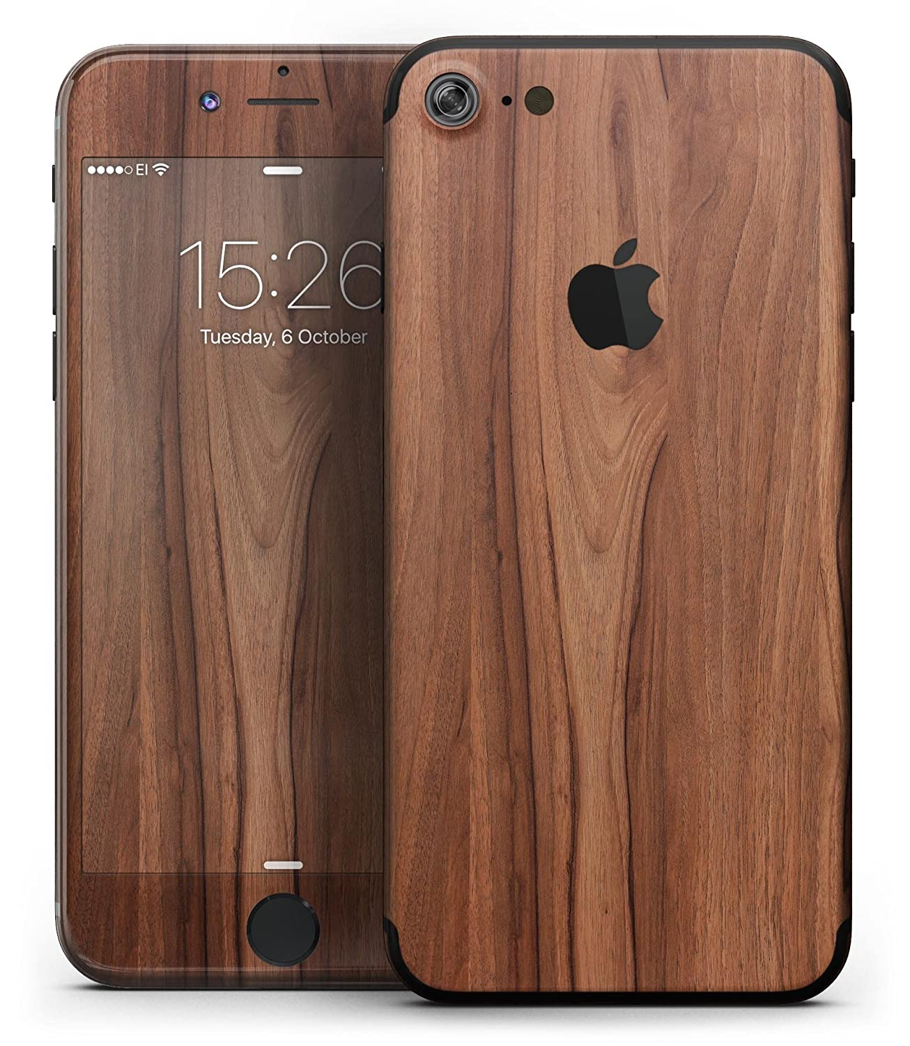 Amazon.com  Wood Pattern Design Skinz Premium Full-Body Wrap Decal Skin-Kit  for the iPhone X - Smooth-Grained Wooden Plank  Cell Phones   Accessories 74190df6ca