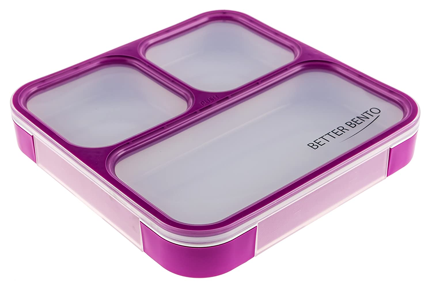 Better Bento Lunch Box - Great for School, Portion Control and Meal Prep Purple B007P