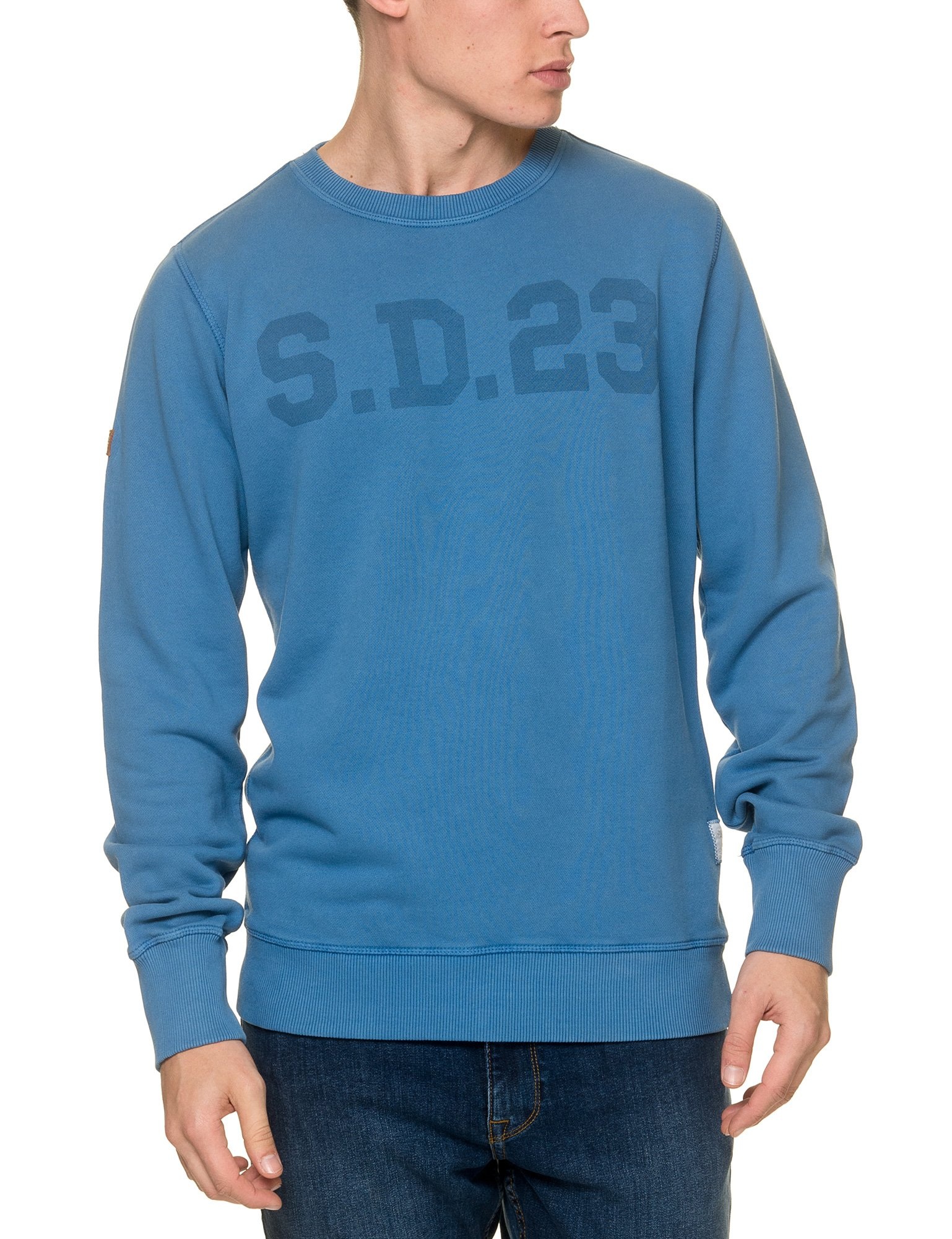 Superdry Men's Solo Sport Men's Vintage Blue Sweatshirt in Size XL Blue