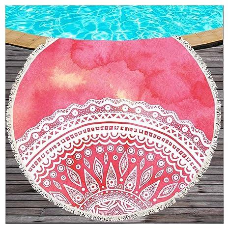 Lila indio mandala Lotus Impresión redondas Toalla de playa con borlas böhmisch playa lanzamiento microfibra playa