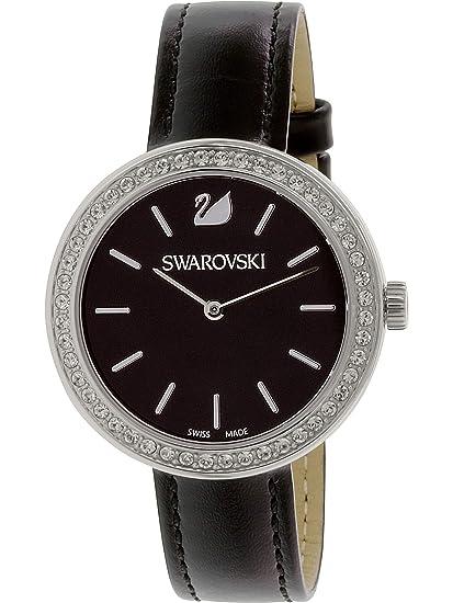 Swarovski Reloj analogico para Mujer de Cuarzo con Correa en Piel 5172176: Amazon.es: Relojes