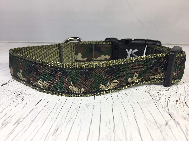 Woodland Camouflage Dog Collar