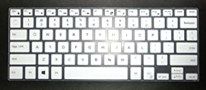 US Layout Keyboard Skin Cover for Dell Inspiron 14-3480 13-7380 13-7368 13-7386 13-7378 13-7373 13-5378 13-5379 15-5591 15-5568 15-5578 15-7569 15-7579 15-7573 15-7570 15-7580 15-9560 15-9570(White)