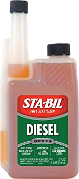 Amazon Com Sta Bil 22254 Diesel Fuel Stabilizer And Performance Improver Keeps Diesel Fuel Fresh For Up To 12 Months Lubricates And Cleans The Fuel System Treats 320 Gallons 32 Fl Oz Automotive