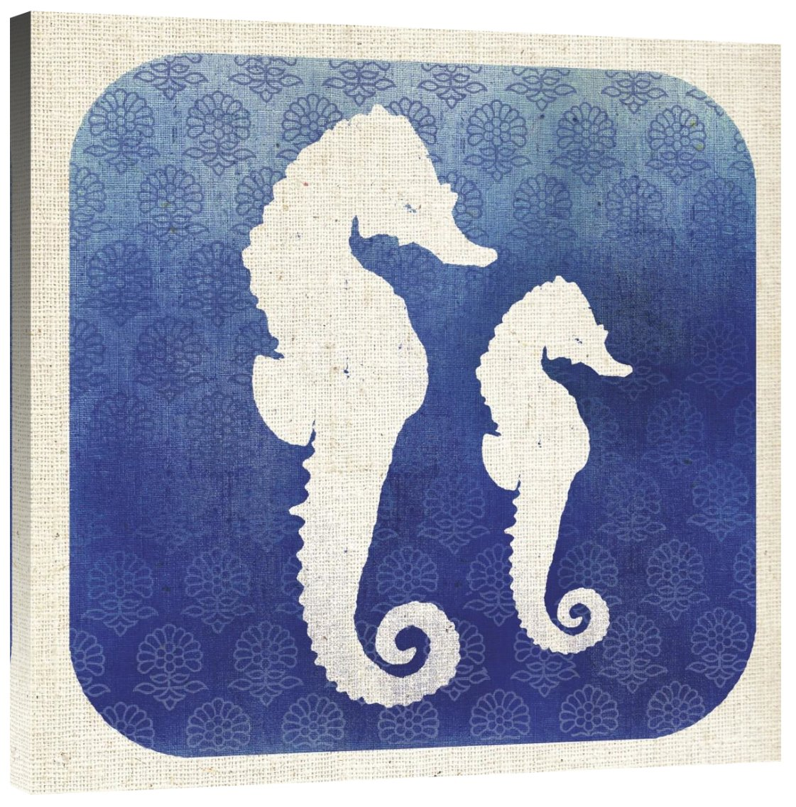 Global Gallery Studio Mousseau Watermark Seahorse Giclee Stretched Canvas Artwork 30 x 30