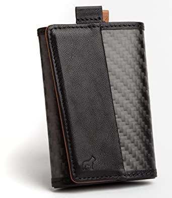 The Frenchie Co. Carbon Fiber Ultra Slim Speed Wallet for Men with RFID Blocking and