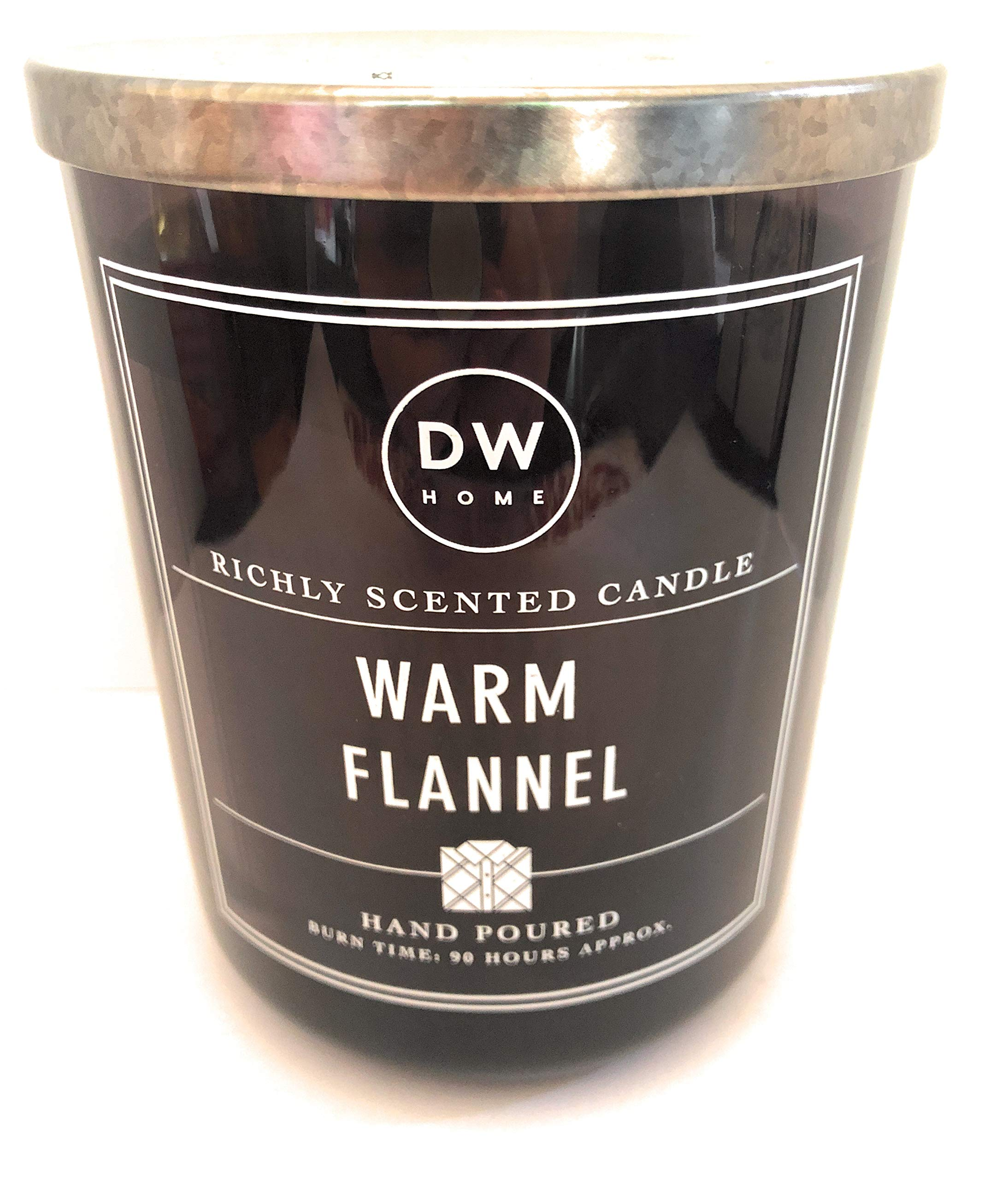 DW Home Warm Flannel Hand Poured Candle with Lid 26.3 Oz