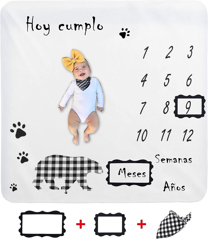 Flower 100 * 120cm Beb/é Manta Mensual Hito Franela Manta Mensual De Hito Para Beb/é Manta Mensual De Beb/é Para Fotos Regalos Personalizados Para Futuras Mam/ás para Beb/é Reci/én Nacido