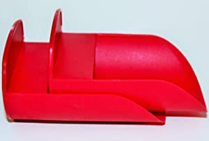 Tupperware Set of 2 Rocker Scoops for Canisters and Modular Mates Red