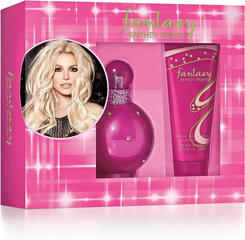 Britney Spears Fantasy estuche agua de perfume aerosol 100 ml/crema soplado para cuerpo 100/: Amazon.es: Belleza