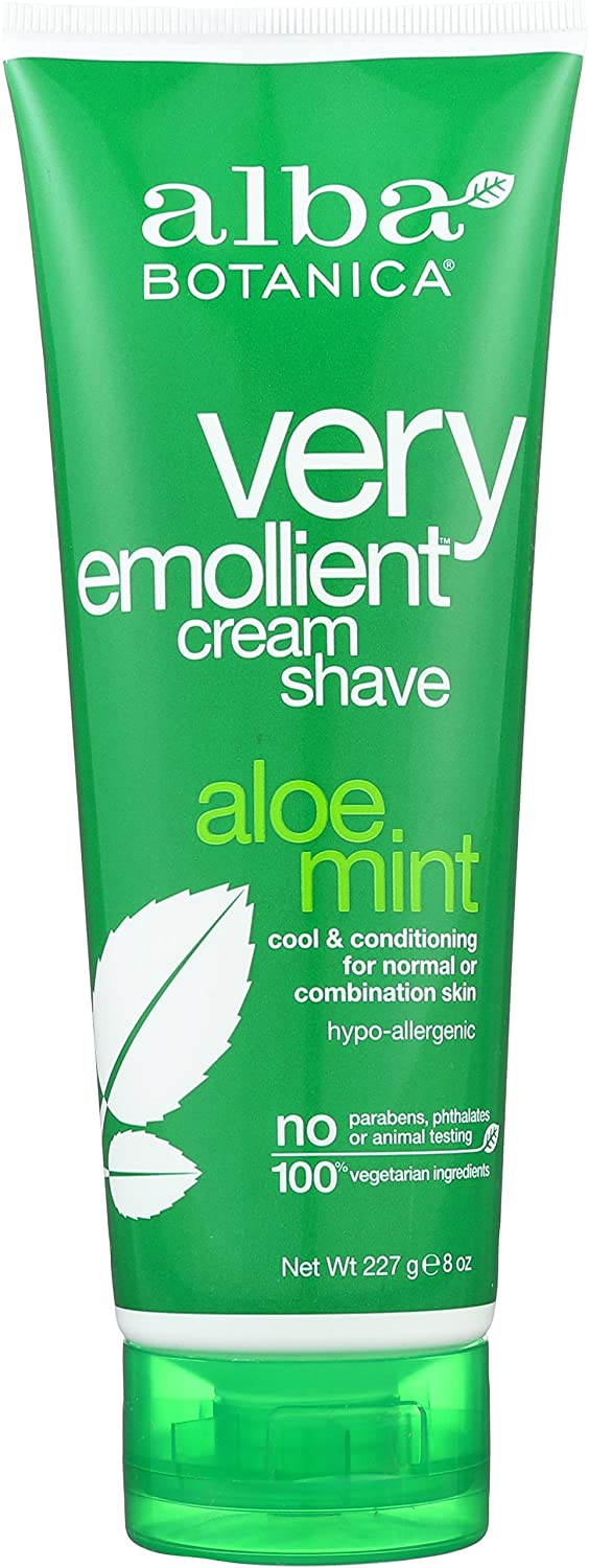 Alba Botanica Very Emollient Aloe Mint Cream Shave, 8 oz Hain Celestial Group AL00346