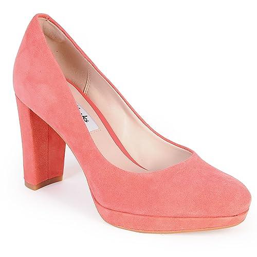 Clarks Kendra Sienna Zapatos de Cordones de Piel para