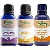 Woolzies Essential Oil Gift Set of 3 Oils, Lavender, Sweet Orange & Lemon Essential Oil