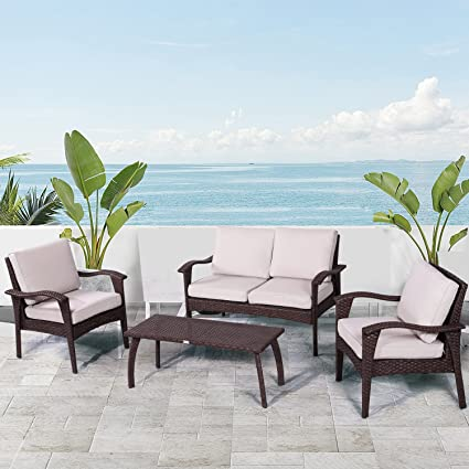 Diensday Patio Outdoor Furniture|Sectional Chair Sofa Conversation Sets  Clearance Deep Seating Cushions Bistro Set - Amazon.com: Diensday Patio Outdoor Furniture|Sectional Chair Sofa