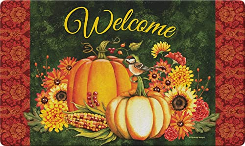 Toland Home Garden Welcome Gourds 18 x 30 Inch Decorative Fall Floor Mat Autumn Harvest Doormat 800289