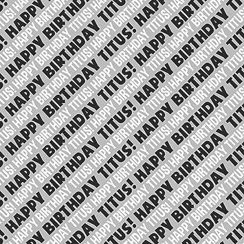 Titus Happy Birthday Premium Geschenkpapier Rolle Schwarz