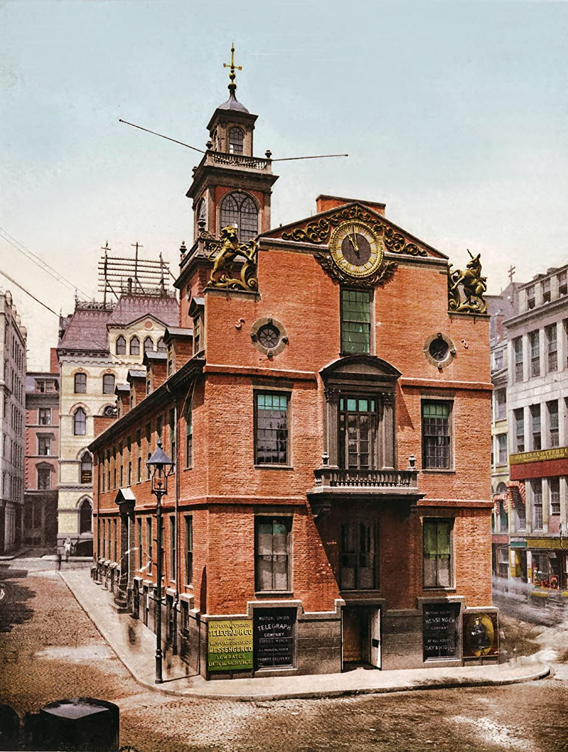 Amazon Com Old State House Boston 1900 Reproduction Vintage Antique Artwork Collection Of Old Photos Of Cities 8 5 X 11 Scrap Booking Home Decor Or Gift Giving And History Research Posters Prints