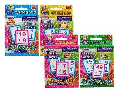 Amazon.com: Kiddy Cards Learning Math Flash Cards Addition ...
